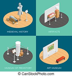 Museum Isometric 2x2 Compositions - Museum 2x2 compositions...