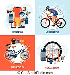 Biking 2x2 Design Concept - Biking 2x2 concept set of...