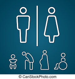 Restroom male female pregnant sign - Restroom male female...