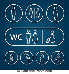 Restroom male female pregnant sign