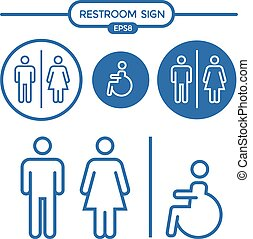 Restroom male female cripple sign - Restroom male female and...