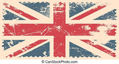 England flag with grunge effect