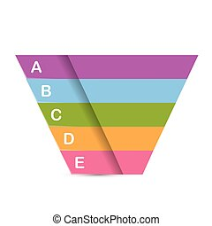 vector sales funnel - Vector infographic or web design...