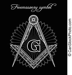 Mystical illuminati brotherhood sign - Masonic symbol....