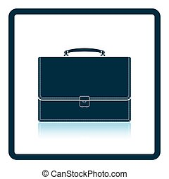 Suitcase icon Shadow reflection design Vector illustration...