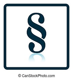 Paragraph symbol icon. Shadow reflection design. Vector...