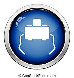 Micro button icon Glossy button design Vector illustration...