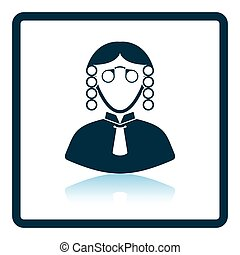 Judge icon Shadow reflection design Vector illustration