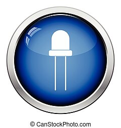 Light-emitting diode icon Glossy button design Vector...