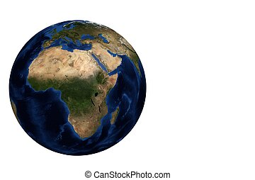 Globe view Africa