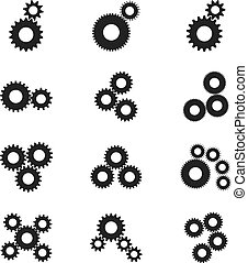Settings, gears vector icons