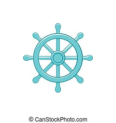 Wheel of Dharma icon, cartoon style - icon in cartoon style...