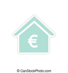paper sticker on white background bank - paper sticker on...