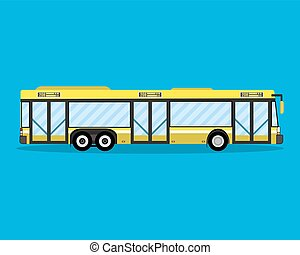 Yellow city bus. public transportation