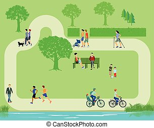 Erholung im Park. - Recreation in the park