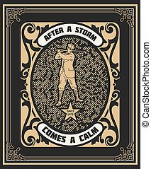Golf player label