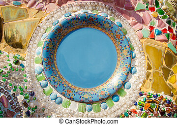 Chinaware dish background - Chinaware dish the decorations...