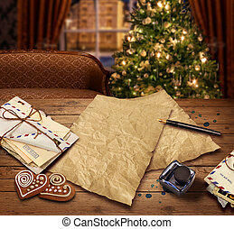 Christmas wish list letter to Santa - Christmas wish present...