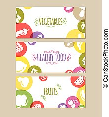 Healty food banners representing - Healty food banners set...