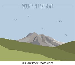 Mountain landscape graphic template