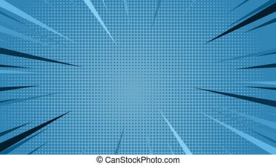 """Comic speed radial on blue dotted background"" - ""Animation..."