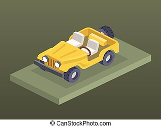 Isometric 4x4 car