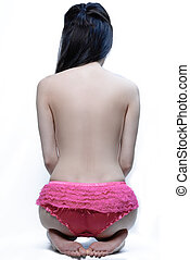 against prostitution - backless female to show against...