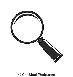 Magnifier glass icon isolated on white background
