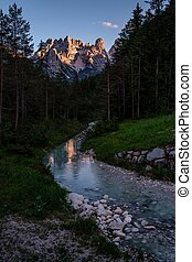 Beautiful view of Tre Cime di Lavaredo, Italia. - Beautiful...