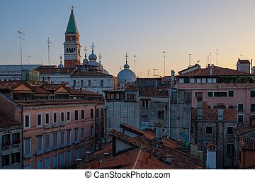 Beautiful roof top view of cathedral of San Marco, Venice,...