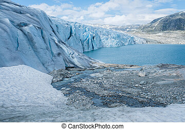 Scenic view of Jostedalsbreen glacier Norway