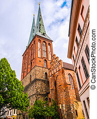 Nikolaikirche Church Berlin HDR - High dynamic range HDR...