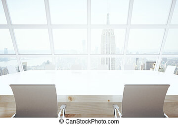 Conference room with NY view - Bright conference room...