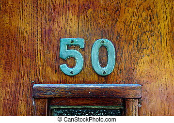 Number 50 - House number fifty (50)