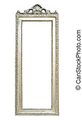 Silver mirror - Big wall mirror with silver frame and...