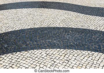 Mosaic in footpath