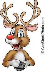 Christmas Reindeer Cartoon - A happy cartoon Christmas...