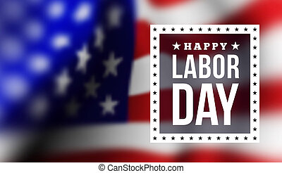 Happy labor day. illustration with USA flag