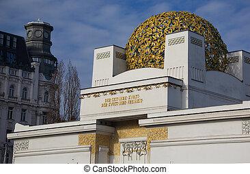 Austria, Vienna Secession exhibition building in Vienna by...