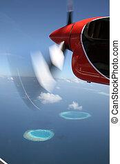 Seaplane in the Maldives