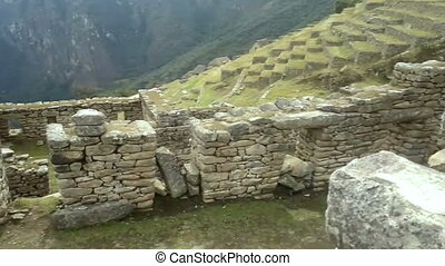 View of the ancient Inca City of Machu Picchu.