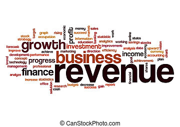 Revenue word cloud concept