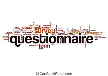 Questionnaire word cloud concept