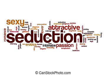 Seduction word cloud concept - Seduction word cloud