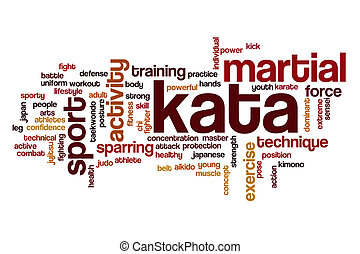 Kata word cloud concept - Kata word cloud