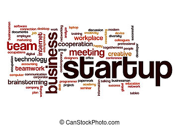 Startup word cloud concept - Startup word cloud