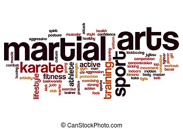 Martial arts word cloud concept - Martial arts word cloud