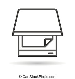 scanner flat icon on a white background
