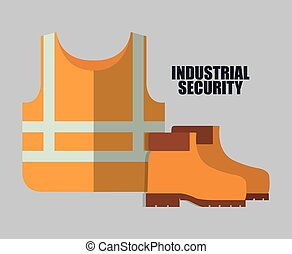 Yellow jacket and boots icon. Vector graphic - yellow jacket...