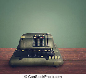 Electnic calculating machine - Old electnic calculating...